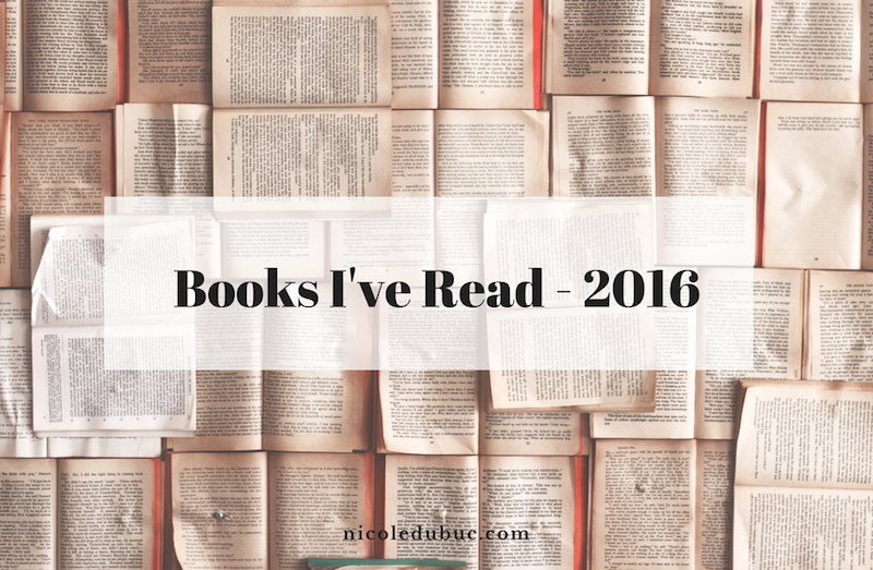 Books I've Read in 2016